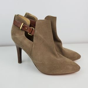 Coach Ann Suede heel boots size 11 buckle